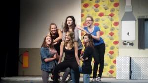 HipHopMädels auf der Bühne